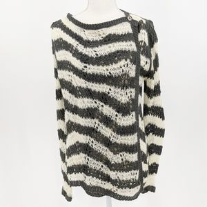 Anthropologie Guinevere Open Knit Stripe Cardigan